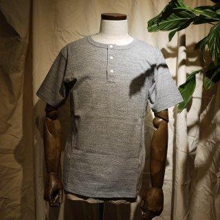 【RIDING HIGH】吊り編みヘンリーネックTシャツ/杢グレー