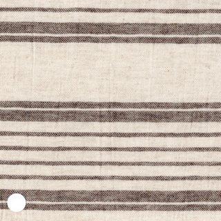 綿麻ウールナチュラルブラウンボーダー