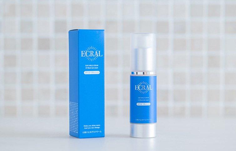サンシールドクリーム<small>(日焼け止めゲルクリーム)</small><br>ECRAL Sun Shield Cream<small>(sunscreen gel cream)</small>