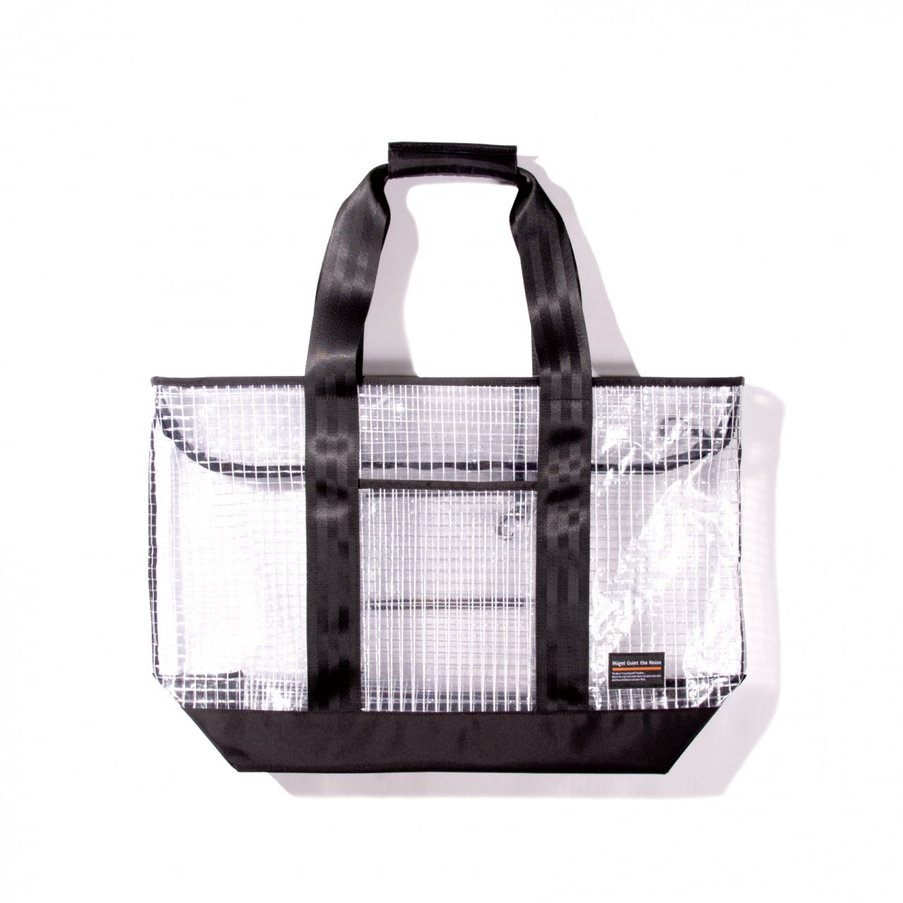 CLEAR PVC TOTE L / BLACK