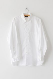 WIRROW | cotton poplin regular collar shirt (White)