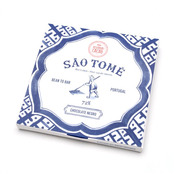 Feitoria do Cacao<br>dark chocolate SAO TOME 72%+fleur du sel from Aveiro