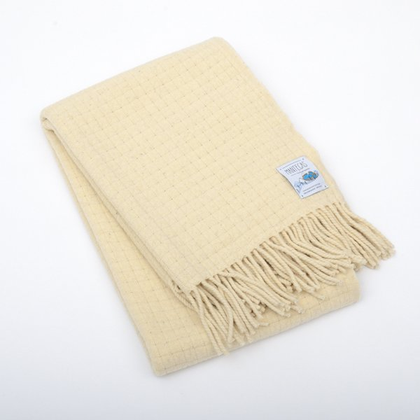 Mantecas by Burel factory<br>wool blanket ROYAL