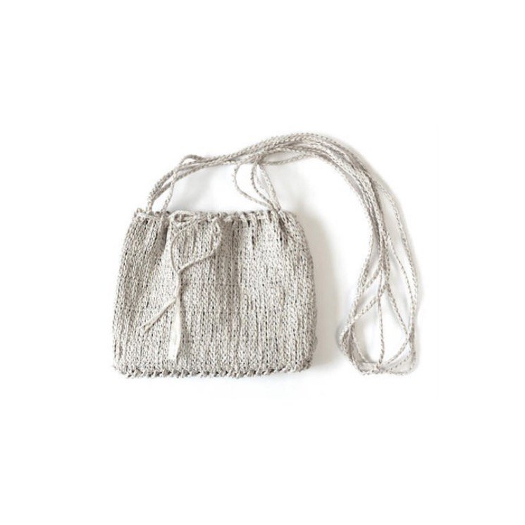 pofo<br>和紙の縄文編みショルダーバッグミニ