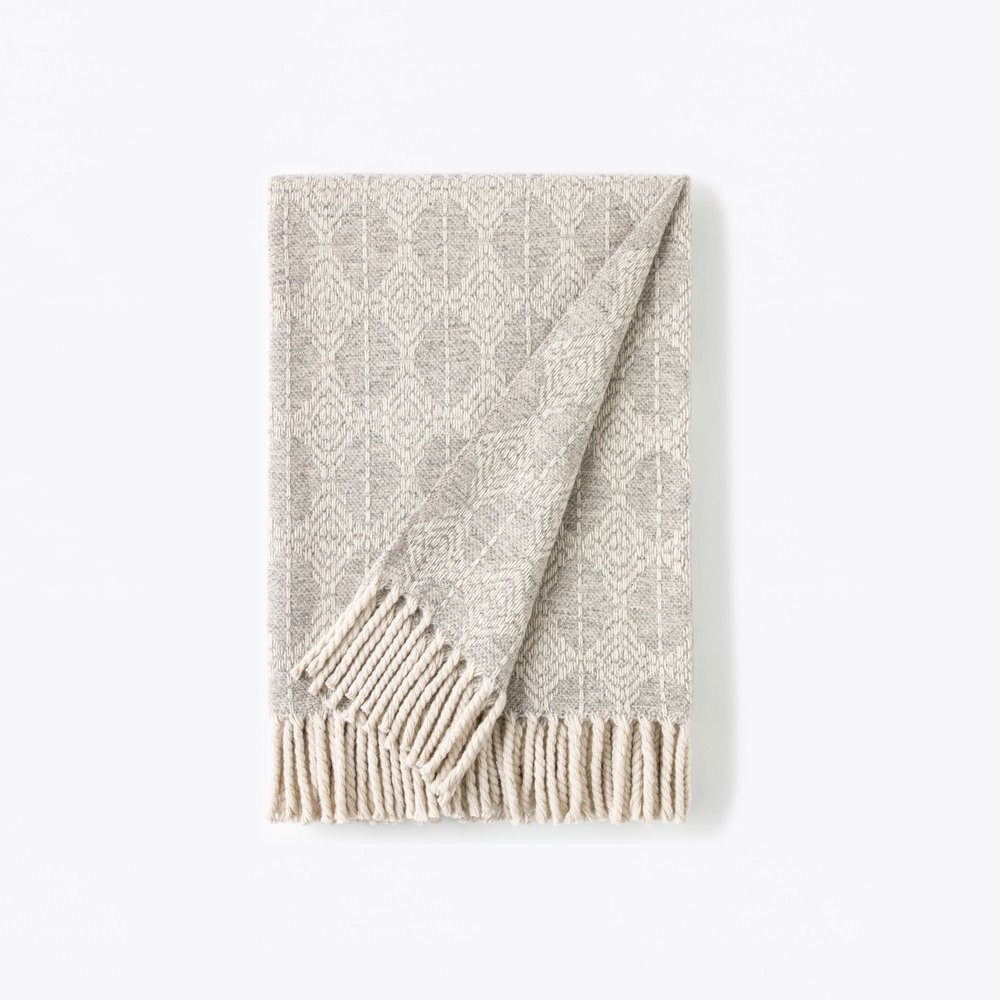 Mantecas by Burel factory<br>wool blanket CLOUD