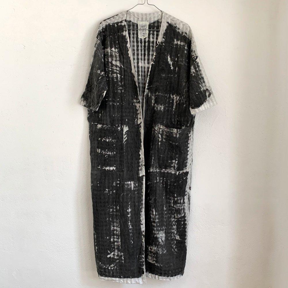 Funatabi atelier<br>kimono coat<br>sumi dye