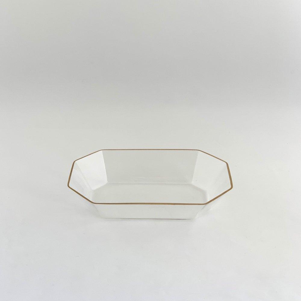 谷口 嘉<br>金縁 長方小鉢