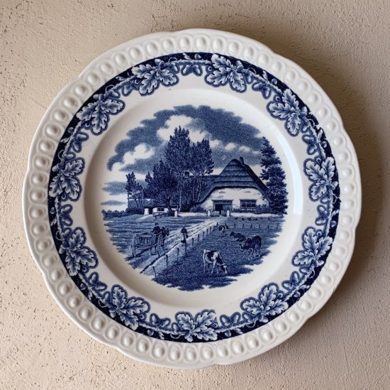 Societe Ceramique plate blue.b