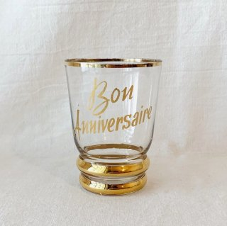 Vintage gold line glass<img class='new_mark_img2' src='//img.shop-pro.jp/img/new/icons47.gif' style='border:none;display:inline;margin:0px;padding:0px;width:auto;' />