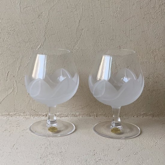 Vintage brandy glass.a