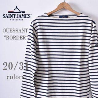 新色追加! 国内正規品<br>SAINT JAMES<br>セントジェームス<br>OUESSANT ウエッソン<br>BORDER ボーダー<br>長袖Tシャツ<br>全31色(20/31色)