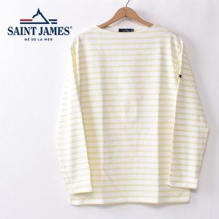 国内正規品 SAINT JAMES セントジェームス OUESSANT ウエッソン BORDER ボーダー  長袖Tシャツ NEIGE/ZESTE(ホワイト/レモン)