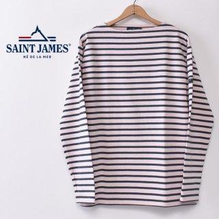 国内正規品 SAINT JAMES セントジェームス OUESSANT ウエッソン BORDER ボーダー  長袖Tシャツ DRAGEE/ABER(ピンク/ブルーグリーン)