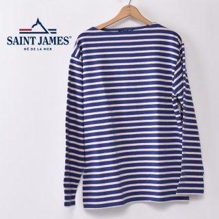 国内正規品 SAINT JAMES セントジェームス OUESSANT ウエッソン BORDER ボーダー  長袖Tシャツ BOREAL/DRAGEE(サックスブルー/うすピンク)