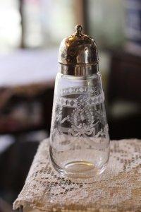 イギリス アンティーク クリスタルガラス シュガーシフター