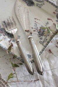 お花のブライトカット サービングフォーク&ナイフ セット