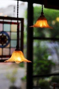 星の形 ムーンストーンガラス ペア ランプシェード