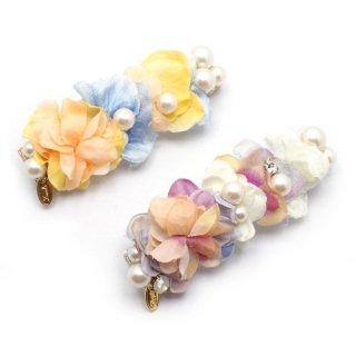 dresed flowers バレッタ:zoule(ゾーラ)