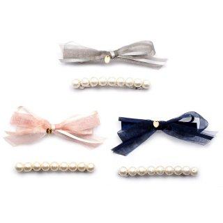 double ribbon バレッタセット:zoule(ゾーラ)