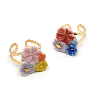 有田焼 Heaven's flower リング:gargle(ガーグル)