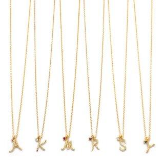 手書きInitial(ゴールド) ネックレス:gargle(ガーグル)