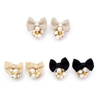 mini jewelry ribbon イヤリング:zoule(ゾーラ)