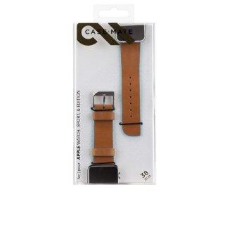 【Apple Watch 用交換バンド】 アップル ウォッチ 38mm / 40mm 用 本革バンド Edged Leather Brown/Blue
