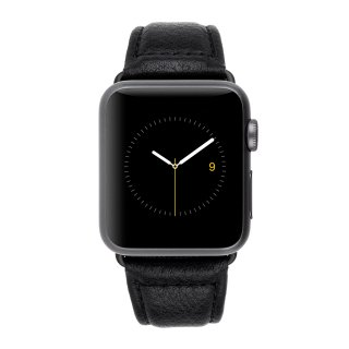 【上質な本革を使用した交換用バンド】Case-mate 38mm Apple Watchband - Black Pebbled Leather