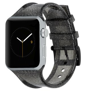 【樹脂素材にキラキラのラメを封入】Case-mate 42mm / 44mm Apple Watchband - Sheer Glam - Noir