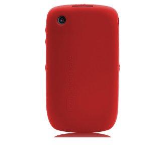 【シンプルなソフトケース】 BlackBerry Curve 9300 Safe Skin Red