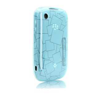 【シンプルなソフトケース】 BlackBerry Curve 9300 Gelli Case Checkmate Teal Blue