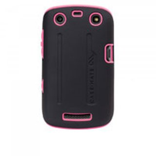 【衝撃に強いケース】 BlackBerry Curve 9350/9360/9370 Hybrid Tough Case Black/Pink