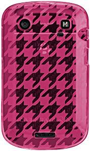 【シンプルなデザインのソフトケース】 BlackBerry Bold 9900 Gelli Case Houndstooth Pink