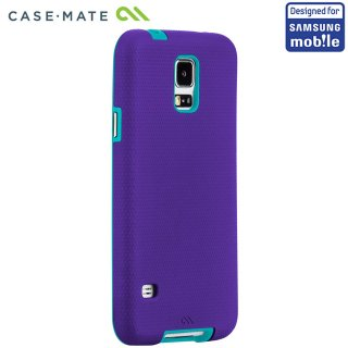 【落下等の衝撃に強いケース】 Samsung GALAXY S5 SCL23/SC-04F Hybrid Tough Case Purple/Pool Blue