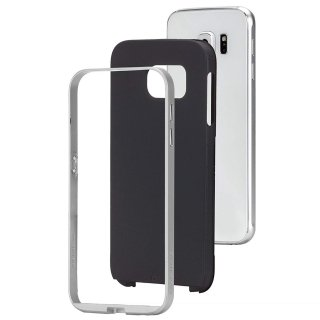 【2種の素材を使った薄いケース】 GALAXY S6 SC-05G Slim Tough Case Black/Silver