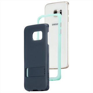 【落下等の衝撃に強いスタンド付きケース】 GALAXY S6 edge SC-04G/SCV31 Hybrid Tough Stand Case Slate Blue/Mint
