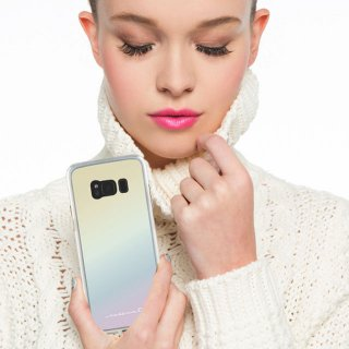 【Galaxy S8 光の加減で色が変わる】 Galaxy S8 SC-02J/SCV36 Hybrid Naked Tough Case Iridescent
