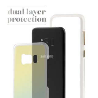 【Galaxy S8+光の加減で色が変わる】 Galaxy S8+ SC-03J/SCV35 Hybrid Naked Tough Case Iridescent