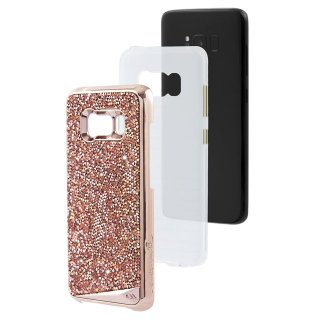 【Galaxy S8+ 水晶を使用】 Galaxy S8+ SC-03J/SCV35 Brilliance Case Rose Gold