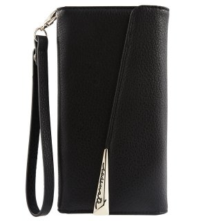 【Galaxy S8+ケース 本革】 Galaxy S8+ SC-03J/SCV35 Leather Wristlet Folio Case Black