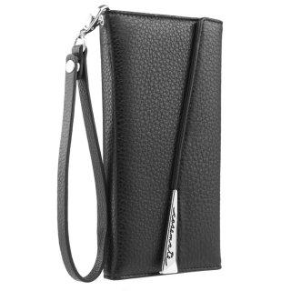 【本革仕様 落下防止ストラップ付 Galaxy Note 8用】Galaxy Note 8 Wristlet Folio - Black