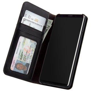 【Galaxy S9専用 カードや紙幣が収納できる手帳型ケース】Galaxy S9 SC-02K/SCV38 Wallet Folio - Black