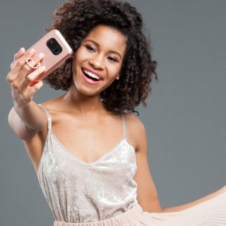 【Galaxy S8+ 自撮り専用ケース 】 Galaxy S8+ SC-03J/SCV35 Allure Selfie Case  Rose Gold