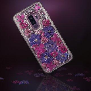【Galaxy S9専用 ドライフラワーを使用!ハッピーでかわいいケース】Galaxy S9 SC-02K/SCV38 Karat Petals - Purple