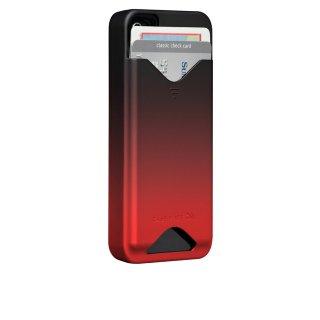 【ICカードが収納可能なハードケース】 iPhone 4S/4 ID Case Matte Royal Red