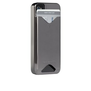 【ICカードが収納可能なハードケース】 iPhone 4S/4 ID Case Gloss Metallic Silver