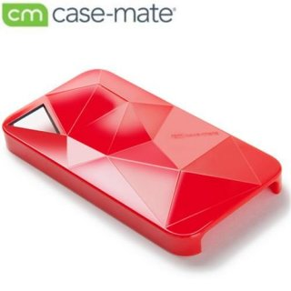 【立体ハードケース】 iPhone 4S/4 Facets Case Red