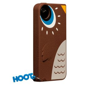 【かわいいフクロウのケース】 iPhone 4S/4 Creatures: Hoot Owl Case Brown