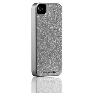 【キラキラ輝くハードケース】 iPhone 4S/4 Barely There Glam Case Silver
