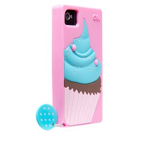【かわいいカップケーキのケース】 iPhone 4S/4 Creatures: Delight Cupcake Lipstick Pink